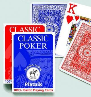 Piatnik Poker - 100% PLASTIC Velký index [Karty]
